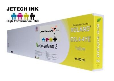 Roland Esl4-4 Eco-solvent Max2 Compatible 440ml Ink Cartridge - Yellow