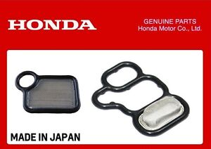 GENUINE HONDA VTEC SOLENOID GASKET + VTC FILTER K-SERIES K20A EP3 FN2 DC5