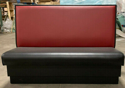 Restaurant Booth Single Double 72long X 42 High Upholstered Plain Back