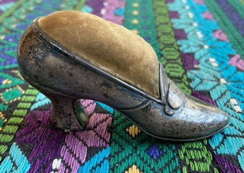Vintage Gorham 1900s Sterling Silver Shoe Pin Cushion Marked B2124