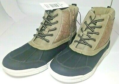 Khombu Kids Size 1 Black/Taupe Mason Boots