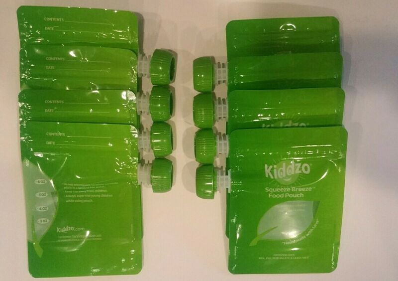 Kiddzo Squeeze Breeze Food Pouch  6oz (32 Pack) NEW
