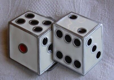 USA Pewter Buckle Pair of Dice
