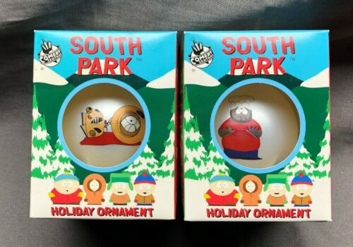 Lot Of 2x SOUTH PARK HOLIDAY ORNAMENTS CHEF & Killed Kenny