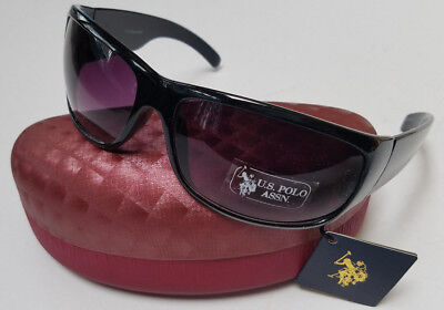 US POLO ASSN Sunglasses Black New w/ Tags & Hard Case  Womens Mens  SPECIAL SALE