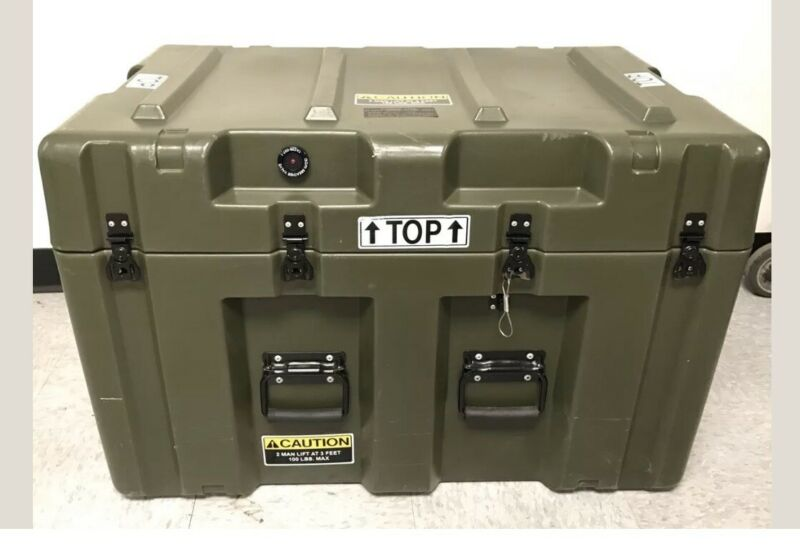 Pelican Hardigg Military Waterproof, Lockable Storage Footlocker Prepper Special