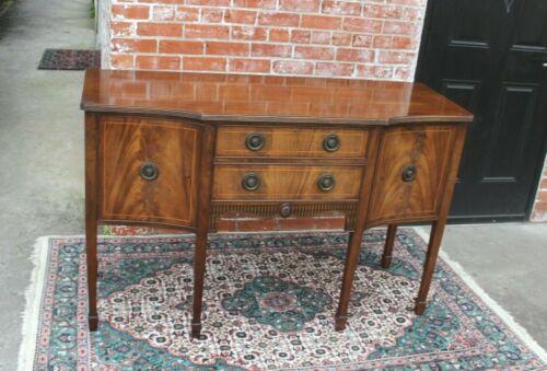 Mahogany Wood Antique Edwardian  Sideboard Cabinet Small Buffet Bar