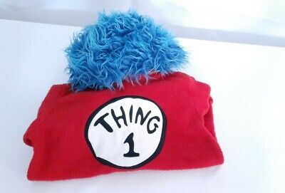 DR. SEUSS POTTERY BARN KIDS ' THING 1' HALLOWEEN COSTUME 2-3 T (9-20)