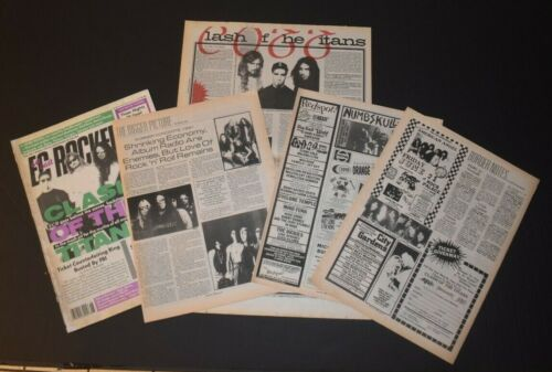 Clash Of The Titans 1991 5PC Concert Ad/Article Lot Megadeth Anthrax Slayer
