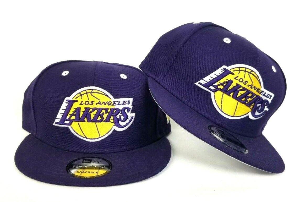 New Era Los Angeles Lakers 9Fifty Snapback Hat Team color Purple ... f488b2a7448d