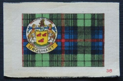 URQUHART Clan Tartan and Coat of Arms SILK card issued in 1922