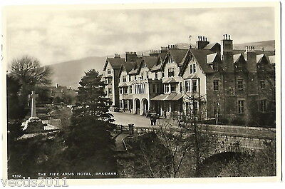 The Fife Arms Hotel, Braemar, Aberdeenshire, Scotland Real Photo Postcard