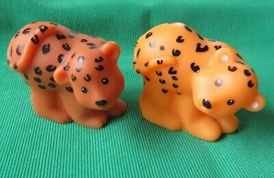 Fisher Price Little People NOAH'S ARK ANIMALS JAGUAR  Cheetah toy figures lot