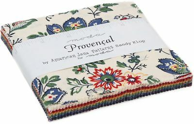 "Provencal Moda Allure Pack 42 100% Cotton 5"" Precut Fabric Quilt Squares"