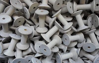 e, ca. 55 mm Lang, Holzspule, Spule, Buche, #6503 (Holz Spule)