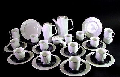 umfangreiches Kaffeeservice - Rosenthal Variation Noire - Tapio Wirkkala - 40tlg