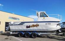 MARLIN BROADBILL 780 OFFSHORE SPORTS GREAT DECK + RIDE + STABILIT Wangara Wanneroo Area Preview