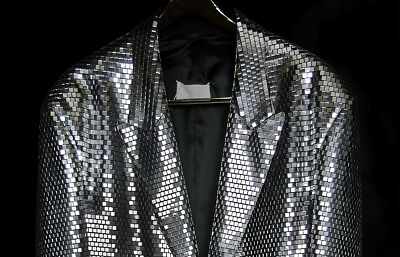 Maison Martin Margiela VERY LIMITED PERFORMANCE SILVER MIRROR MEN JACKET S-M- L