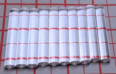 10 Pc 12 Od X 4 Long Clear Acrylic Plexiglass Lucite Rod Dowels .5 Diameter