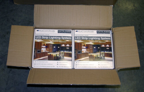 [LOT OF 10] NEW EuControls RGB LED Strip Lighting Kit 60W UL Listed Power Supply