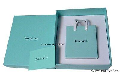 TIFFANY & CO Bone China Blue Mini Shopping Bag Figurine w/ Gift Box ~ JAPAN Rare