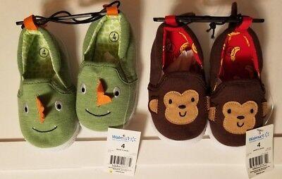 Toddler Boys Monkey & Dinosaur Set of Slippers sizes 2,5,7 SHIPS FAST SHIPS - Boys Monkey Slippers