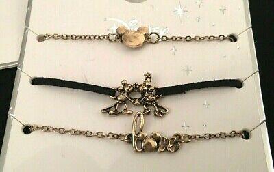 Disney Mickey & Minnie Mouse Maus 3 armband Armbänder Set Schmuck  Kiss ()