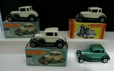 Matchbox Lesney Superfast #73 Ford Model A w/Original Boxes England Lot of 4