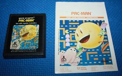 Used, Atari 2600 Cart and Manual: Pac-Man by Atari. #5 Picture Label for sale  Cold Lake