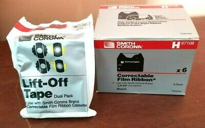 Four Smith Corona H67108 Correctable Film Ribbon Correcting Cassettes - Lot 4