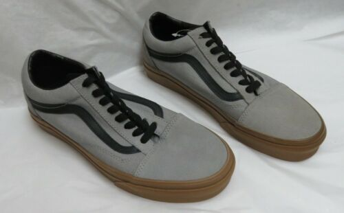 Vans Old Skool Alloy & Gum Canvas/Suede Skate Shoes V Side Stripe M-8.0/W-9.5