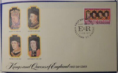St. Vincent 1977 2c FDC Kings and Queens of England 4 of 12 unaddressed