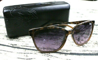 Superdry Womens Sunglasses Leopard Print Butterfly Glasses With Versace Case