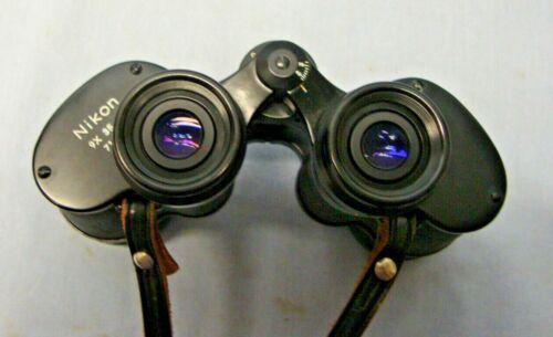 Vintage Nikon Kogaku Tokyo 9 X 35 7.3 Degree Binoculars with case Japan