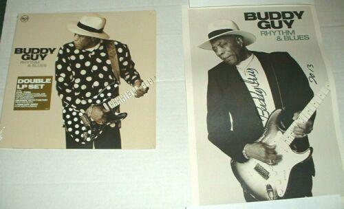 BUDDY GUY RHYTHM & BLUES SEALED DOUBLE VINYL LP + AUTOGRAPHED #RD POSTER 2013