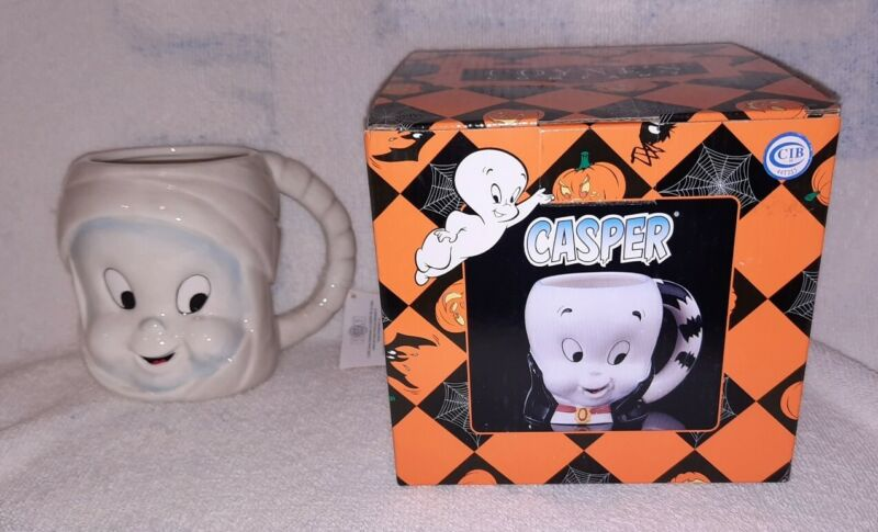 Casper The Friendly Ghost Mummy Halloween Coffee Mug 2005 Collectible Coyne
