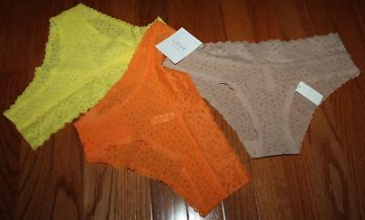 3 Pack Undies - NEW NWT 3 Pack GAP Women's LOVE By GapBody Lace Cheeky Panties Undies $35 *C1
