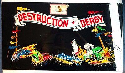 1975 Exidy Destruction Derby ORIGINAL vintage arcade game marquee