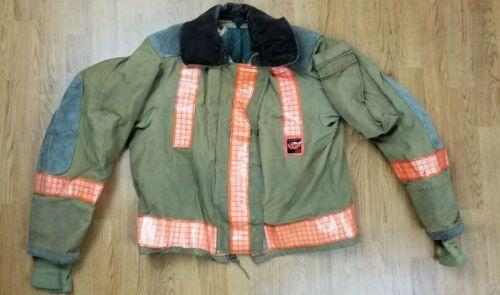 Vintage Globe Firefighter Bunker Turnout Jacket 42 Chest x 26 Length 1988...