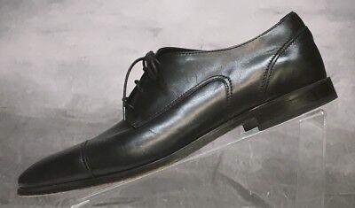 Florsheim Mens Sz 11 3E Eee Black Leather Cap Toe Balmoral Oxford Shoes