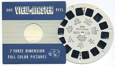 GOLD MINING Union of South Africa RARE 1948 ViewMaster Single Reel 3042