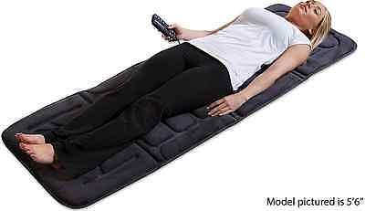 Motor Heated Massage Mat - Full Body Massage Mat With 10 Motor Plush Pad Heat Massager For Pain Relief Ache