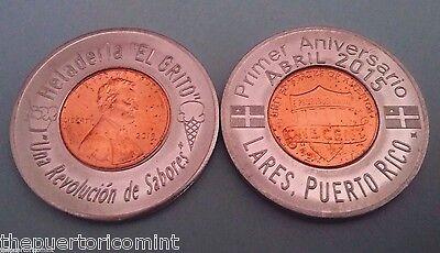 Heladeria EL GRITO LARES 2015 Encased Lucky Penny PUERTO RICO IceCream SOLD OUT!