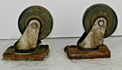 Lot Of 2 Heavy Duty Swivel Caster Wheels 4 X 2 12