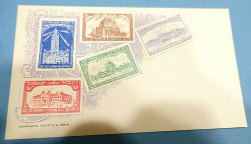 New! 1901 Pan-American Expo F.A. Busch EXPO SEAL PRIVATE MAILING CARD,POSTCARD 7