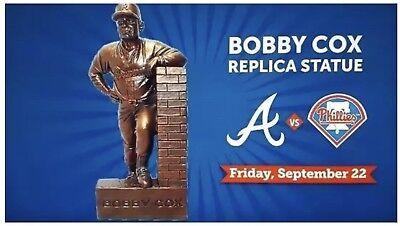 Bobby Cox Replica Statue Atlanta Braves Pre Sale Sga Suntrust Park W  Program