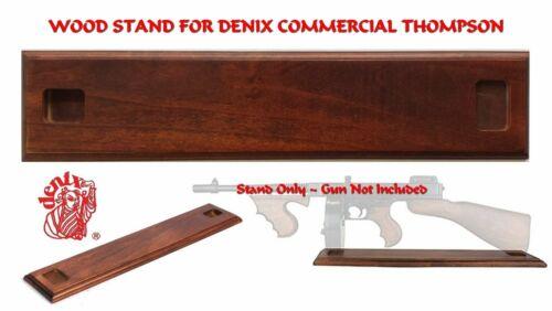 Wood Stand for Denix Replica Thompson Submachine Gun