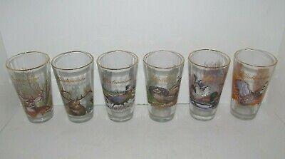 Vtg 1999 BUDWEISER Wildlife Series Scenes Pint Beer Glasses Deer Elk Quail Duck