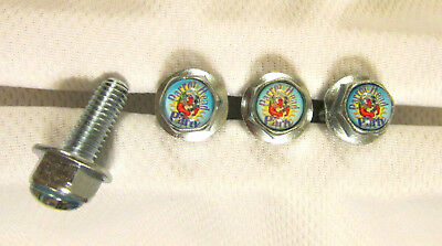 Jimmy Buffett License Plates Screws, Parrot Head Party Logo Plate Screws ,Buffet