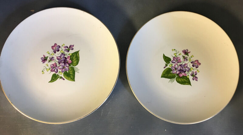 vintage edwin knowles china Wood Violets